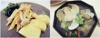 美魔女廚房(三) 瘦下半身秘訣餐:起司蛋捲+番茄PASTA+蛤蠣湯+海帶芽