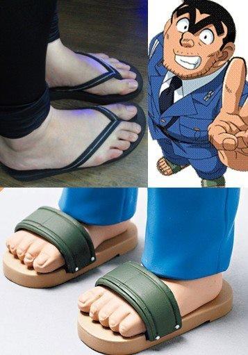 大腳人穿拖鞋會像哪位名人?