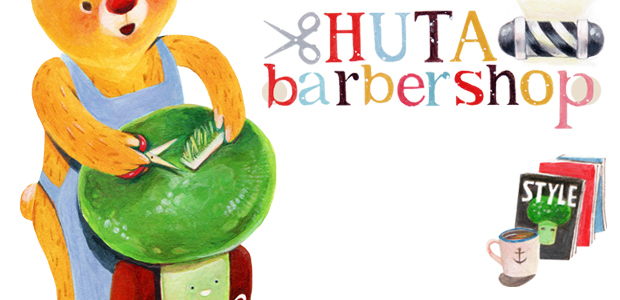 HUTA barber shop 繪畫過程