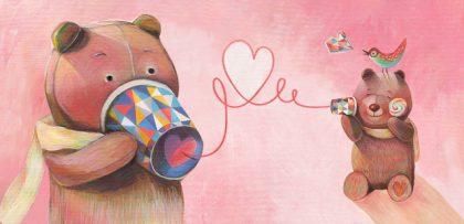 傳情熊 談情說愛 繪畫過程