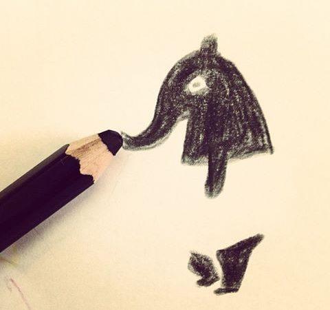 看到黑筆白紙都會忍不住