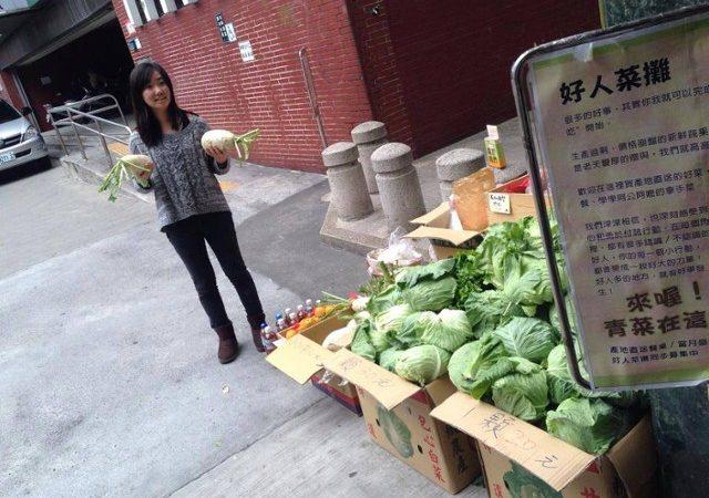 美生菜價格跌了 好人們也都來了