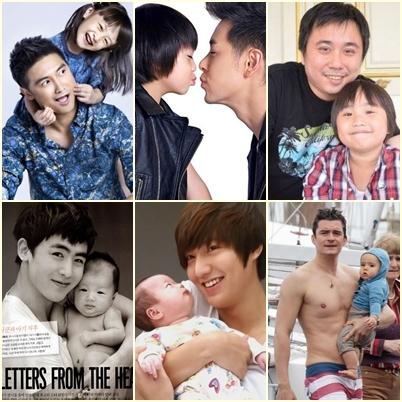 嫩臉奶爸PK萌兒 李敏鎬從哪裡抱來的兒子啊?