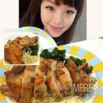 美魔女早餐/香煎雞腿拌麵~好好吃^^