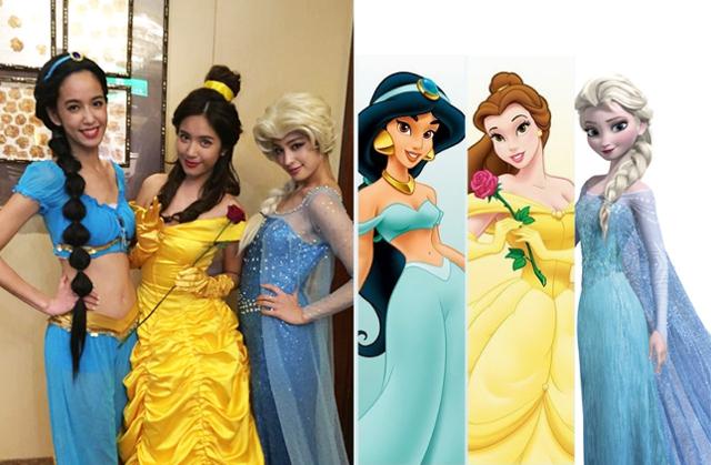 迪士尼公主生日Party 雷瑟琳、陳庭妮、莫允雯姊妹淘全員大集合