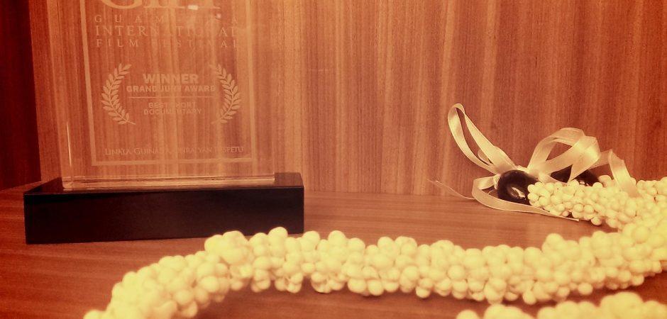 關島電影節評審團大獎,很美的獎座遠渡重洋到台灣了!