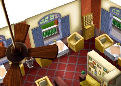 《醉後決定愛上你》動畫場景連連看─『領事館咖啡廳』