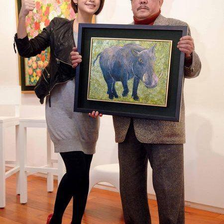 《醉後決定愛上你》 女主角楊丞琳亮相與藝術當代大師吳昊學畫