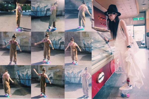 魏如昀私底下也熱愛玩滑板。圖 / 摘自魏如昀臉書