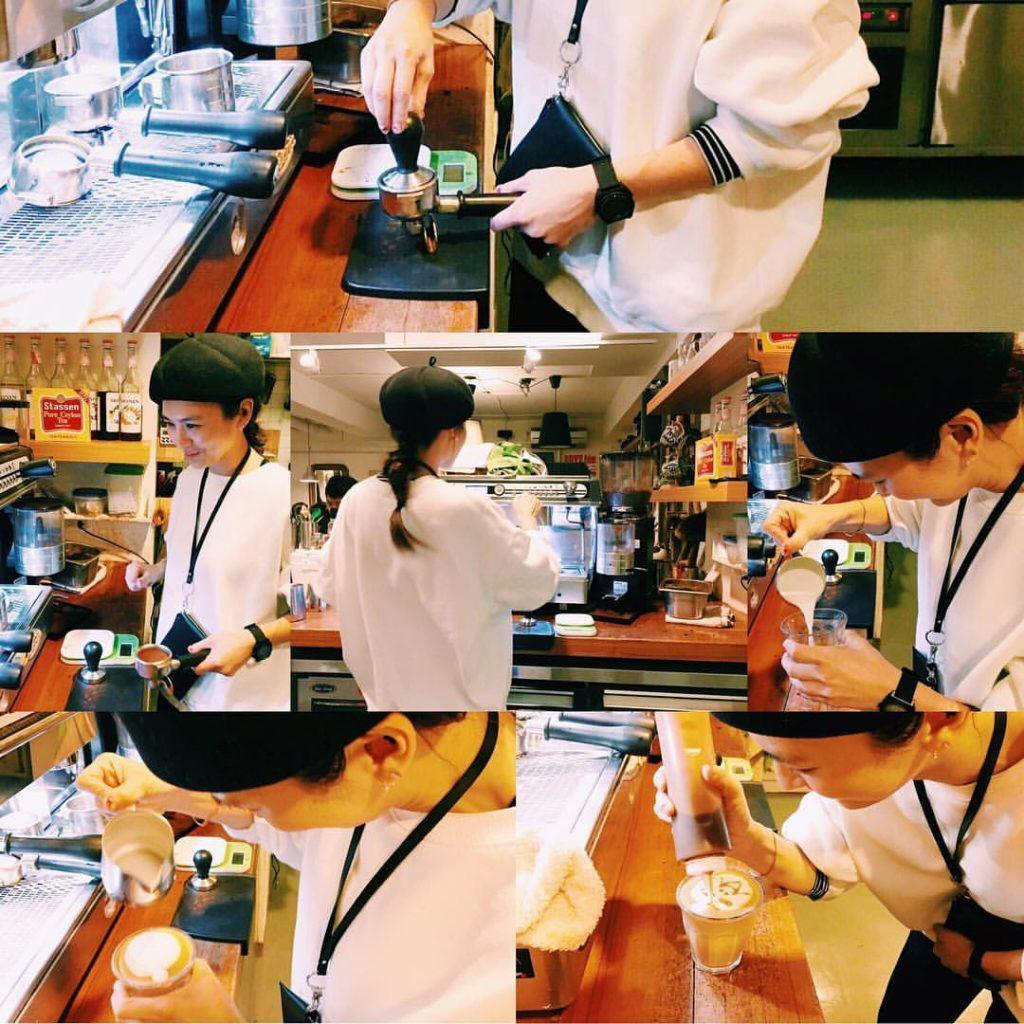 魏如昀曾在姊姊魏如萱開的「好多咖啡」打工。