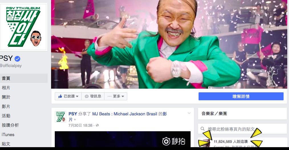 圖/摘自PSY臉書
