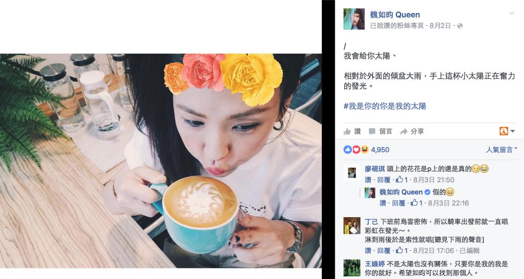 圖 / 翻攝自魏如昀臉書