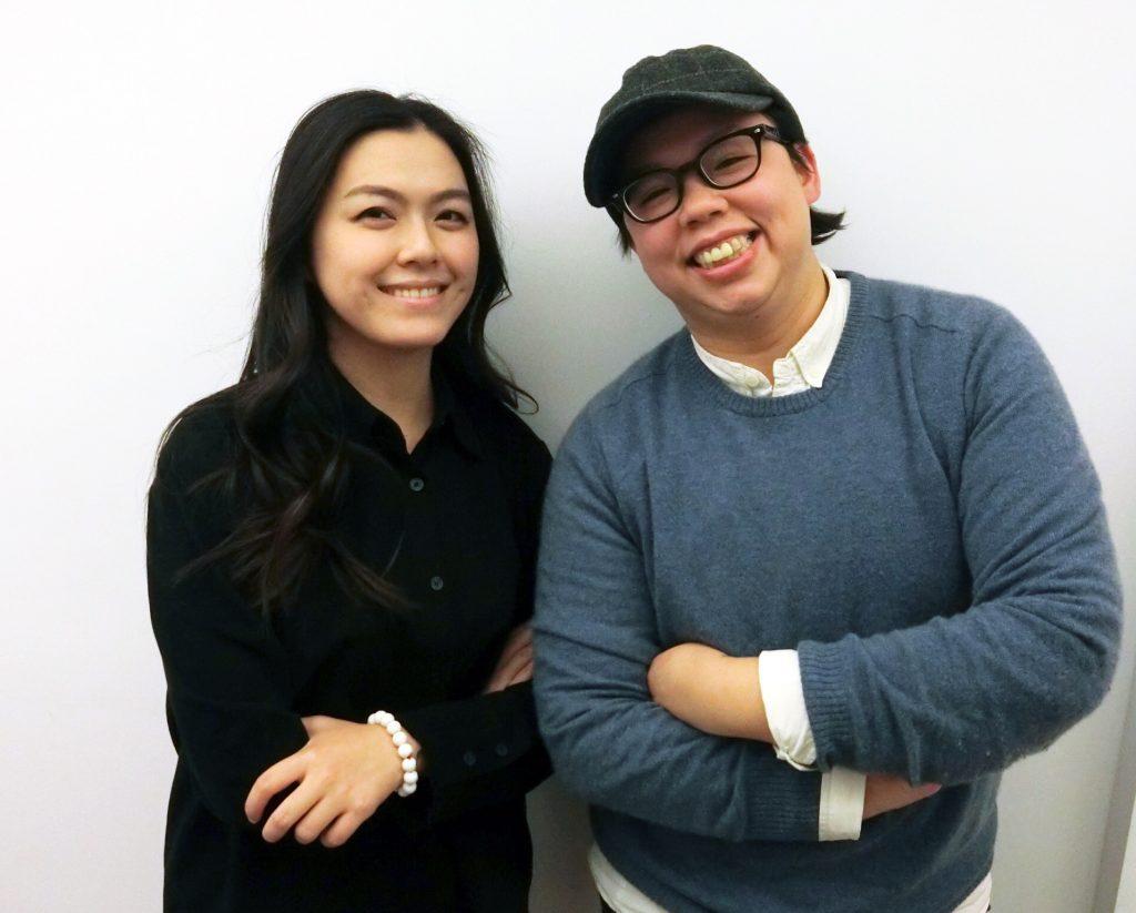 特效化妝師Kiara(左)與阿蒲(右)。圖 / Fanily記者攝